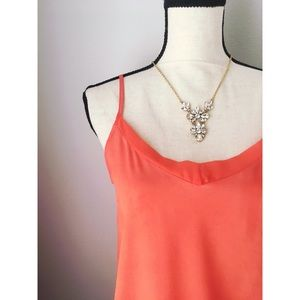 The Limited Orange Silk Tank Top